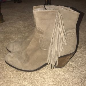 Women's Louie Fringe-Trimmed Ankle Boot Size (7.5)